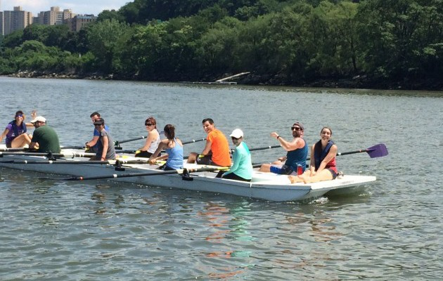 "RNY Staff Discover ""Rowing on the water is crazy fun!"""