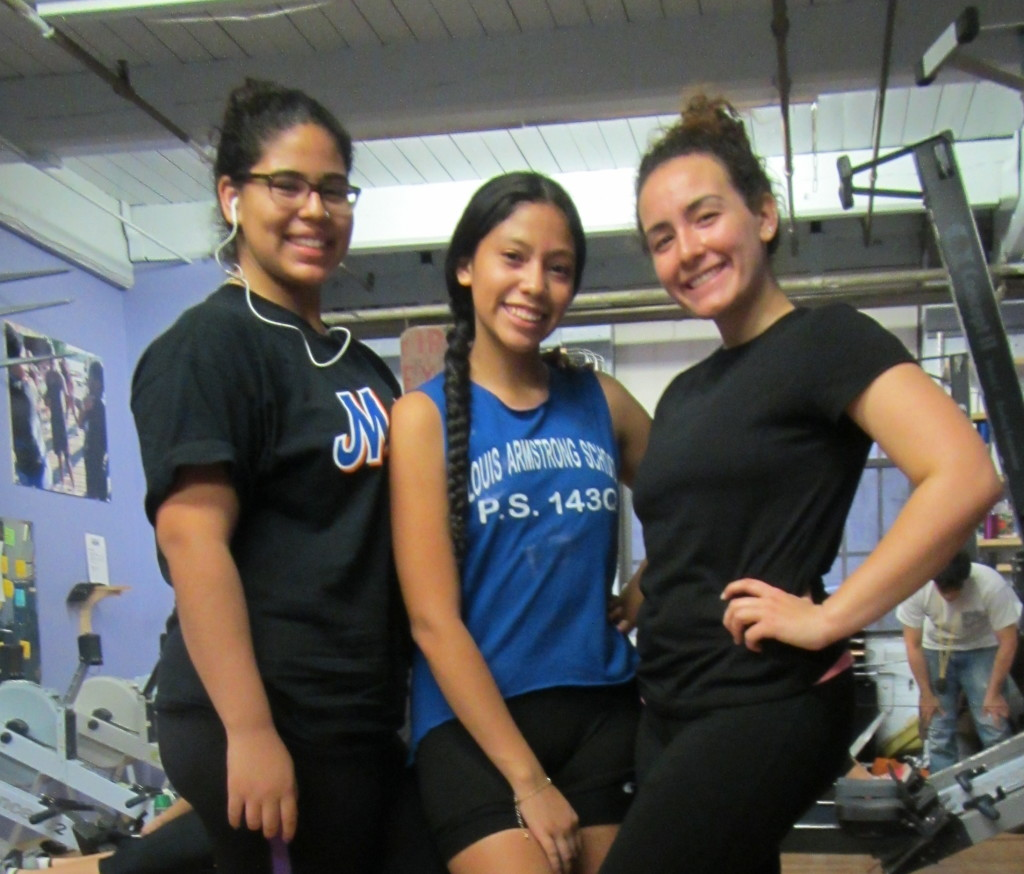 Nicole (left) with her teammates Jacqueline (middle) and Naomi (right)