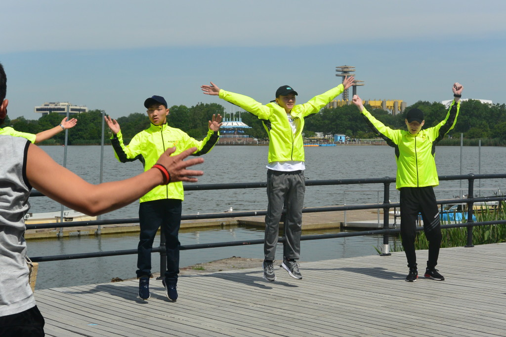 A group of Mongolian students with disabilities came to Queens to learn to row in the summer of 2017.