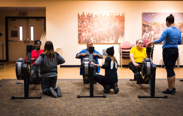 Indoor Rowing At The VA Hospital