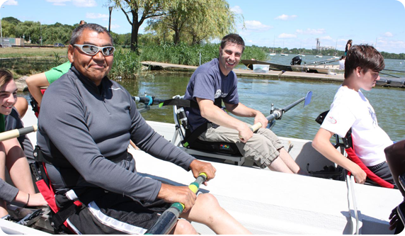 Row New York offers comprehensive adaptive rowing programs during the winter ...